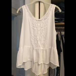 Lauren Conrad Tank Poly with Cotton Lace - XL